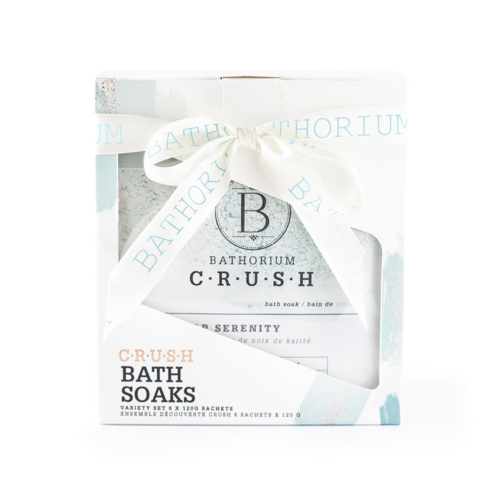 Bathorium CRUSH Bath Soaks Variety 6 packs