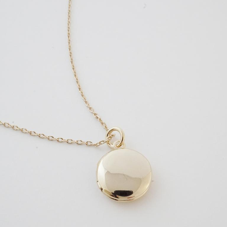 Honeycat Locket Necklace - gold