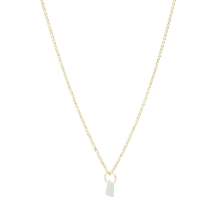 Honeycat - white marble necklace - champagne gold