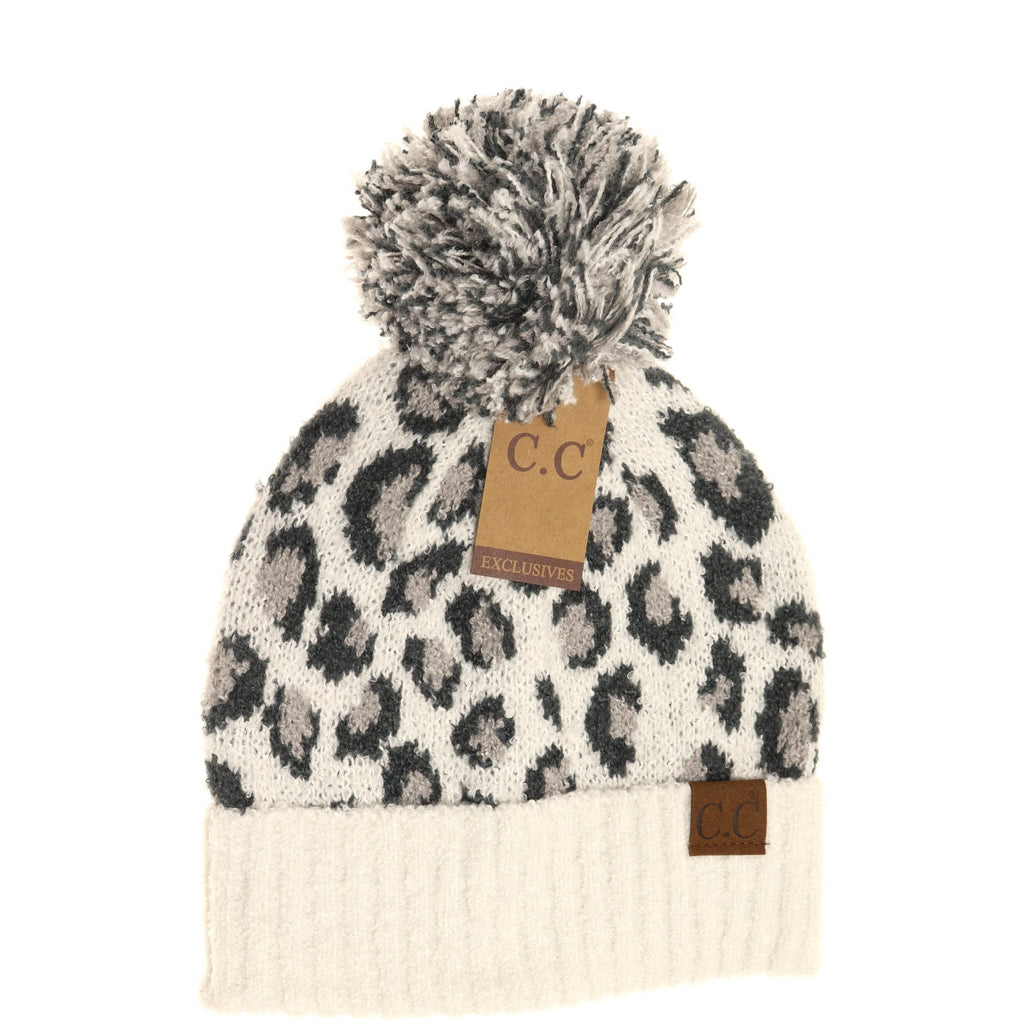 CC Beanie Super Soft Knit - Ivory