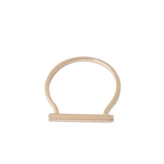 Honeycat Long Bar Ring - Rosegold