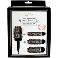 ARIA 4-Piece Interchangeable Round Brush Set