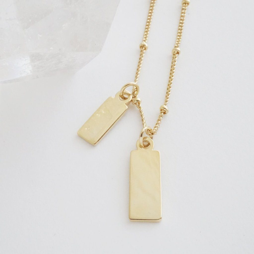 Honeycat Tag Together Necklace - gold