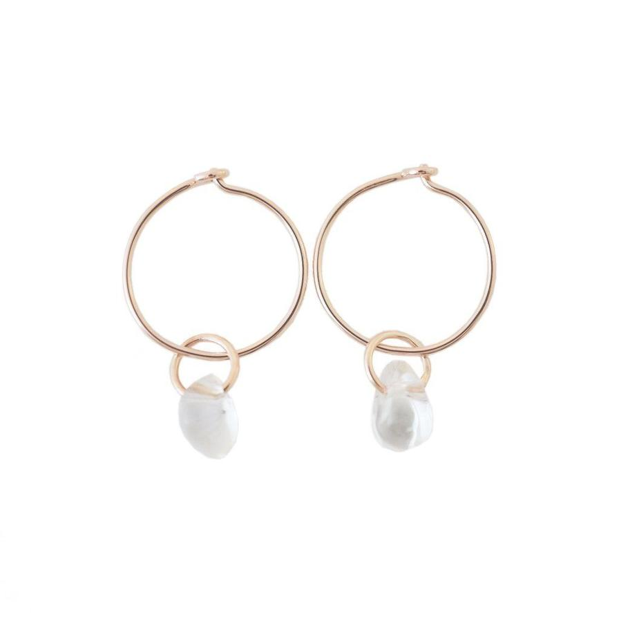 Honeycat Wishing Crystal Earrings - Rosegold