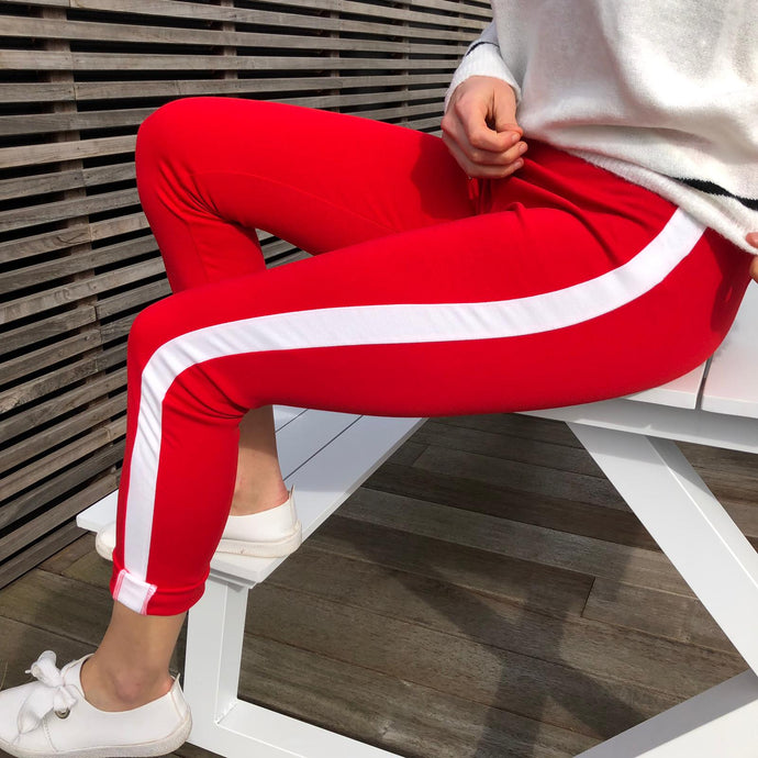 Sporty chic rood