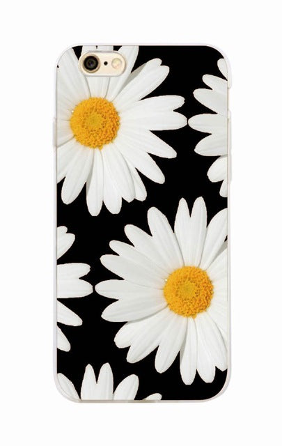 Sunflower Floral iPhone Case For iPhone 7 7Plus 6 6S 6Plus 8 8PLUS X SAMSUNG