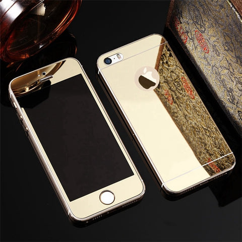Front+Back Protective Plating Mirror Screen Protectors