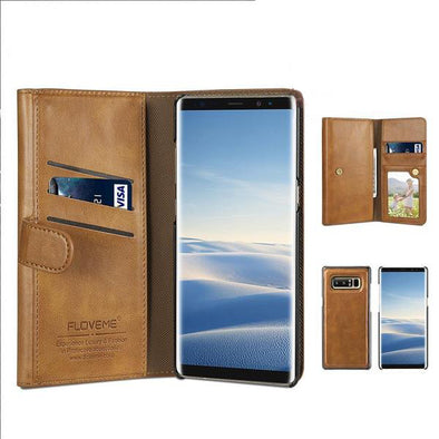 Leather Wallet Case For Samsung Note 8 Galaxy S8 S8 Plus Samsung S7