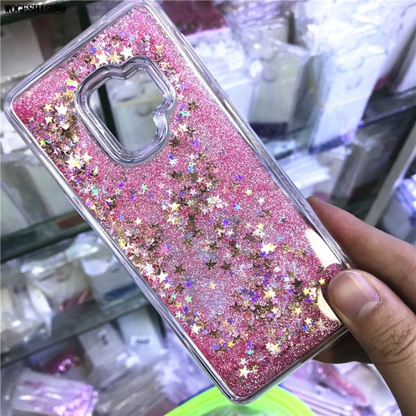 Samsung Case For Galaxy S6 S7 Edge S8 S9 Plus Dynamic Glitter Cover