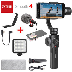 Zhiyun Smooth 4 3-Axis Handheld Smartphone Gimbal Stabilizer and Action Camera