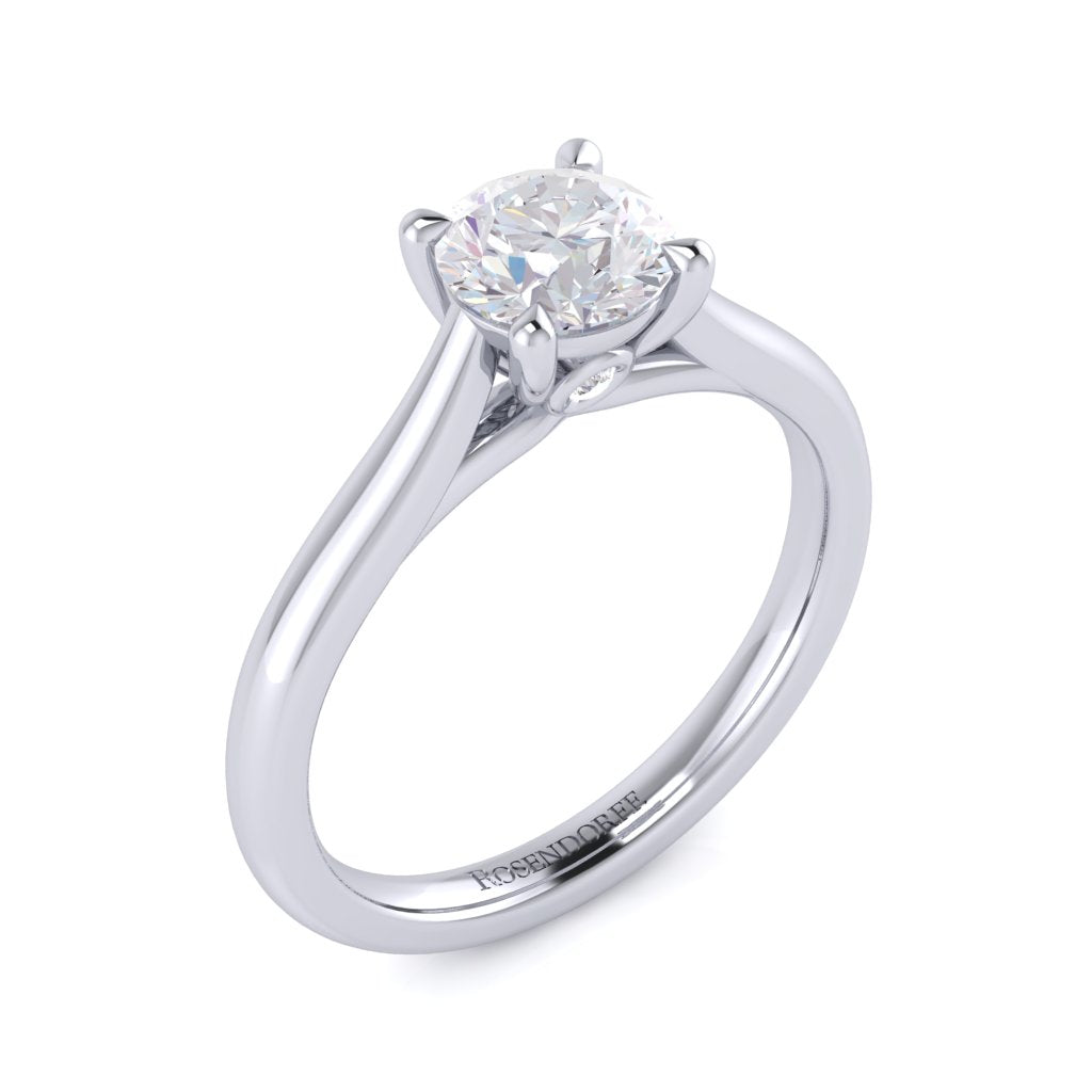 Engagement Solitaire Brilliant Diamond Ring