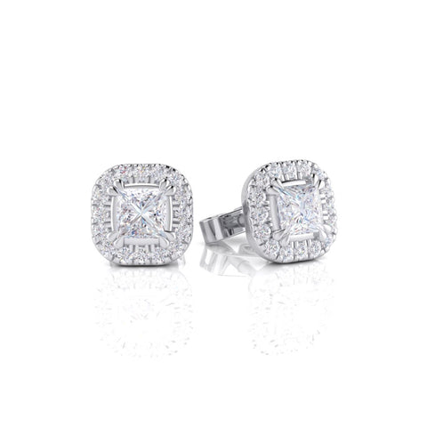 White Gold Diamond Earring - 0074EAR