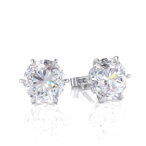 White Gold Diamond Earring - 0077EARR