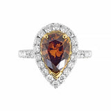 "Fancy Deep Orange Brown ""Colours Of The Earth"" Rosendorff Diamond Collection Ring 18ct White Gold 