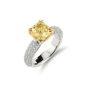 Unique Rosendorff Golden Collection Diamond Ring Crafted in Platinum and Yellow Gold | Shop Online - Ring - Rosendorffs Diamonds Perth, Australia