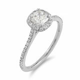 Cushion Halo Diamond Ring | Shop Online | Ring - Rosendorff