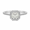 Ascher Collection Halo Diamond Ring | Shop Online | Ring - Rosendorff