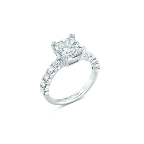Cushion And Brilliant Diamond Ring Design Only