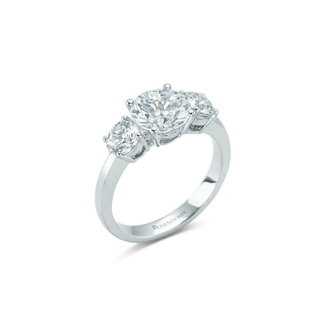 Exquisite Brilliant Diamond Trilogy Ring~Design Only