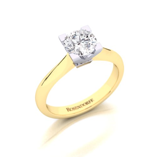 Modern Classic Diamond Solitaire Ring