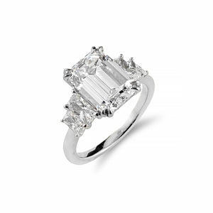 Rare ~ Internally Flawless 3.02ct Emerald Cut Diamond Ring Crafted in 18ct White Gold | Shop Online - Ring - Rosendorffs Diamonds Perth, Australia