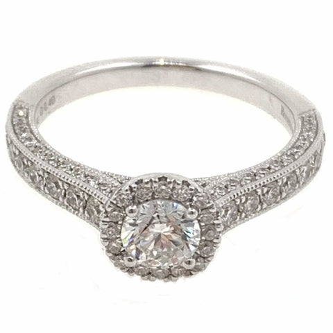 Kissing Diamond Engagment Ring