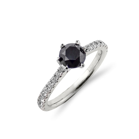 Black and White Diamond Ring | Shop Online | Ring - Rosendorff