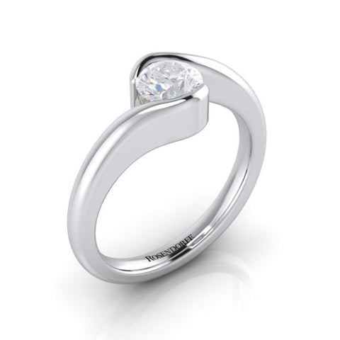Classic Swirl Brilliant Solitaire ~Design Only