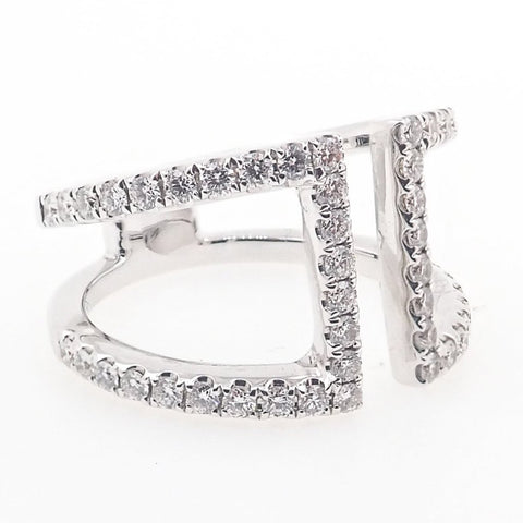 Fancy Open Diamond Ring