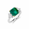 Vibrant Emerald & Diamond Trilogy Ring | Shop Online | Ring - Rosendorff