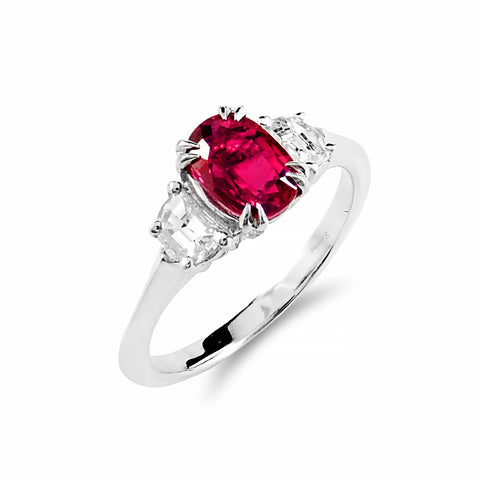 Ruby & Diamond Trilogy Collection Ring | Shop Online | Ring - Rosendorff