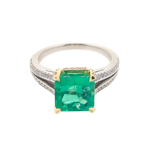 Columbian Emerald Ring from Rosendorff Diamonds