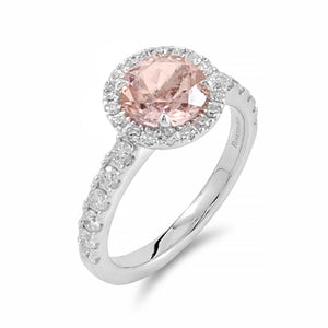 Gorgeous Morganite Halo Ring