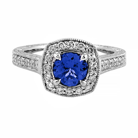 Breathtaking Tanzanite & Diamond Ring