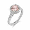 Stunning Morganite Halo Diamond Ring