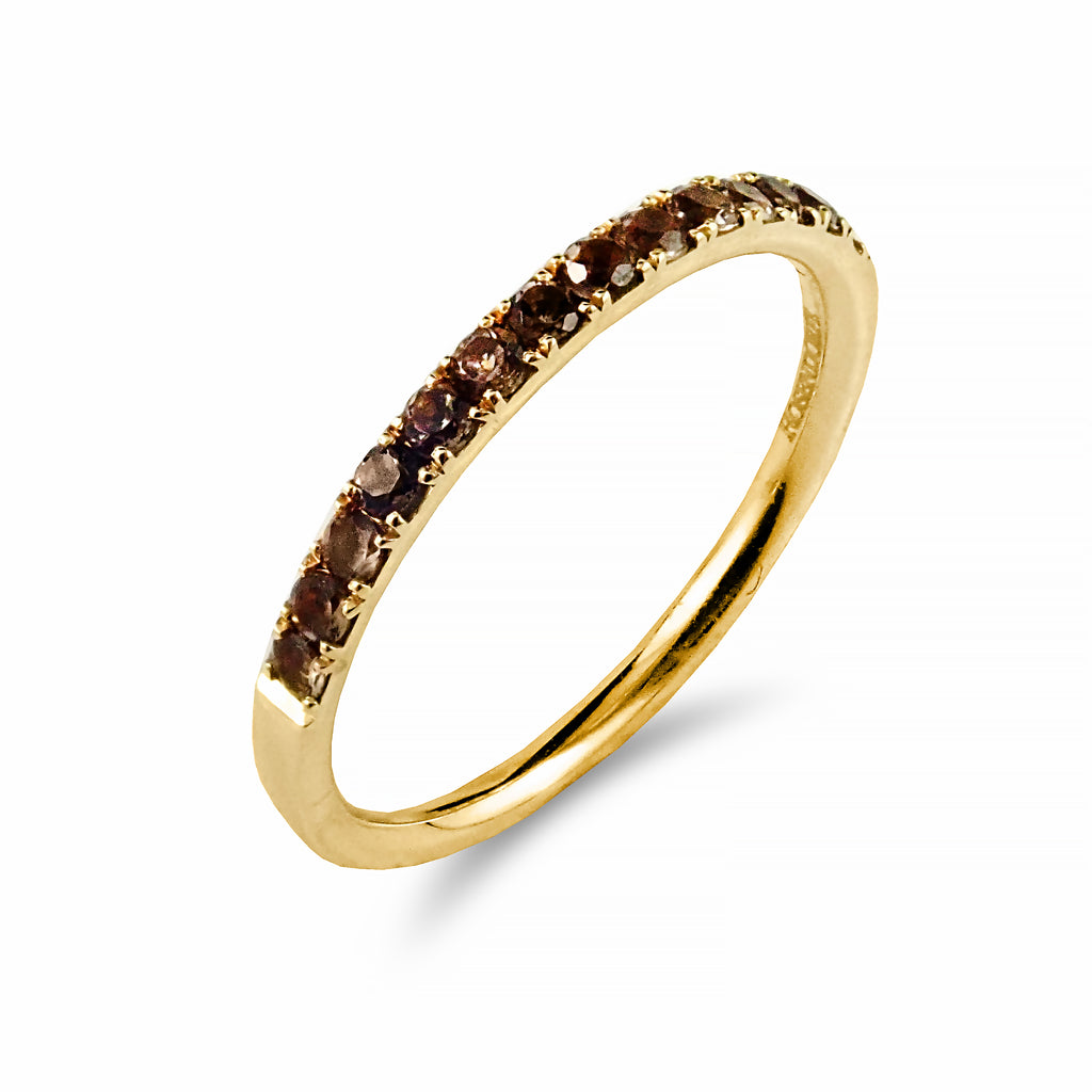Stackables Collection Smokey Quartz and 18ct Gold Ring | Shop Online | Ring - Rosendorff