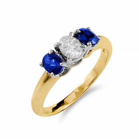 Royal Blue Sapphire and Diamond ring | Shop Online | Ring - Rosendorff