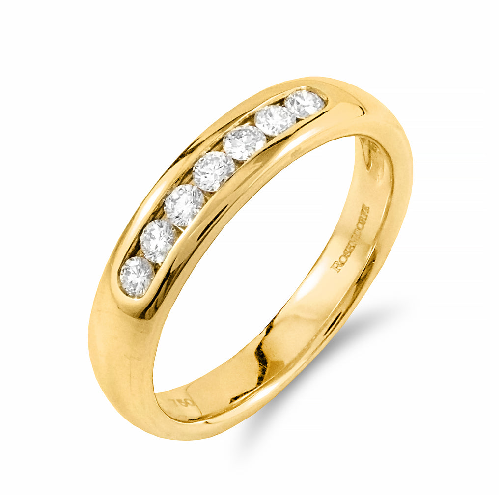 Channel Set Diamond Band | Shop Online | Ring - Rosendorff