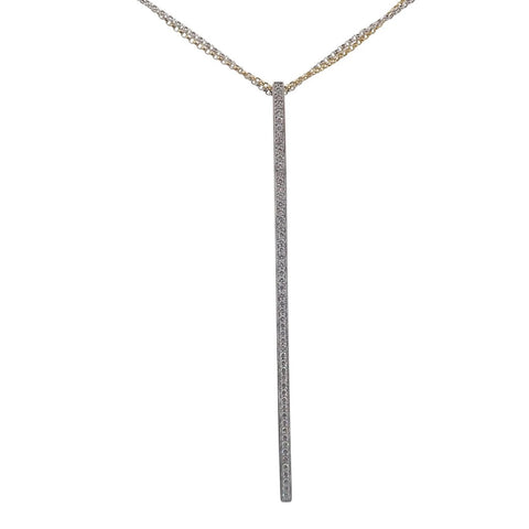 Brilliant Diamond Line Pendant