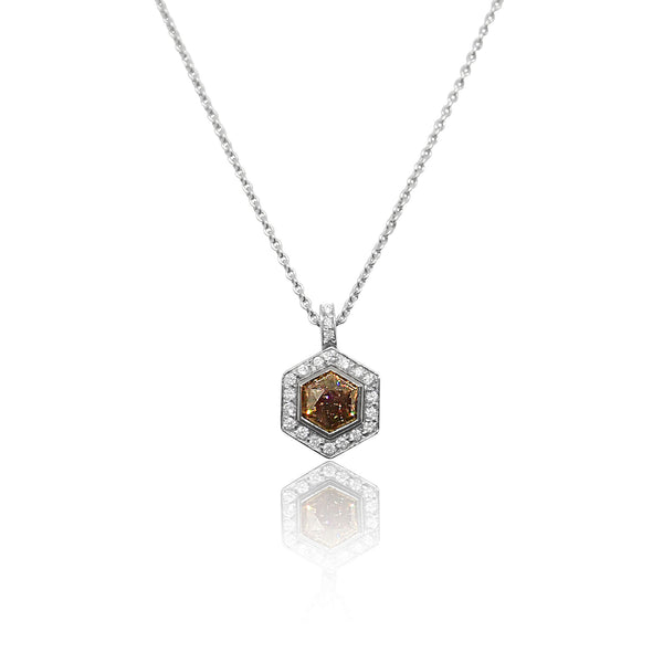 Diamond Colours Collection Halo Pendant