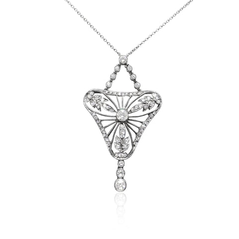 Vintage Collection Platinum Diamond Pendant