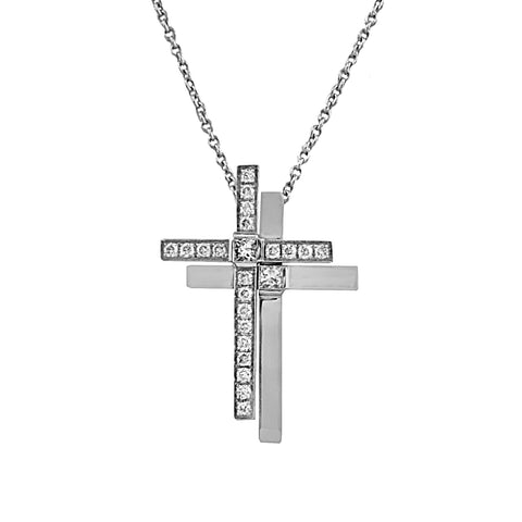 Twin Cross Pendant