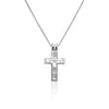Emerald Cut Diamond Cross
