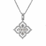 Asscher Cut Diamond Pendant