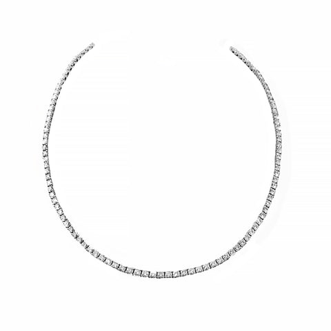 Timeless Brilliant Diamond Necklace Crafted in 18ct White Gold | Shop Online | Necklace - Rosendorff
