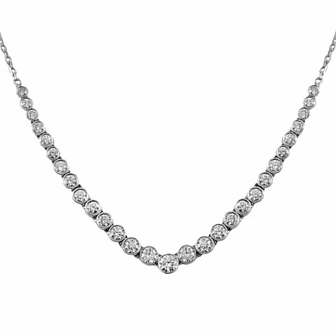 Platinum Diamond Necklet | Shop Online | Necklace - Rosendorff