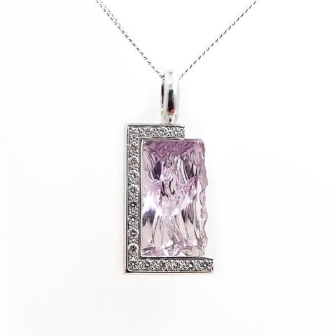 Fancy Amethyst Diamond Pendant