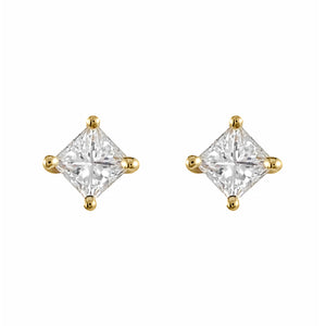 Princess Cut Diamond Studs | Shop Online - Earrings - Rosendorffs Diamonds Perth, Australia