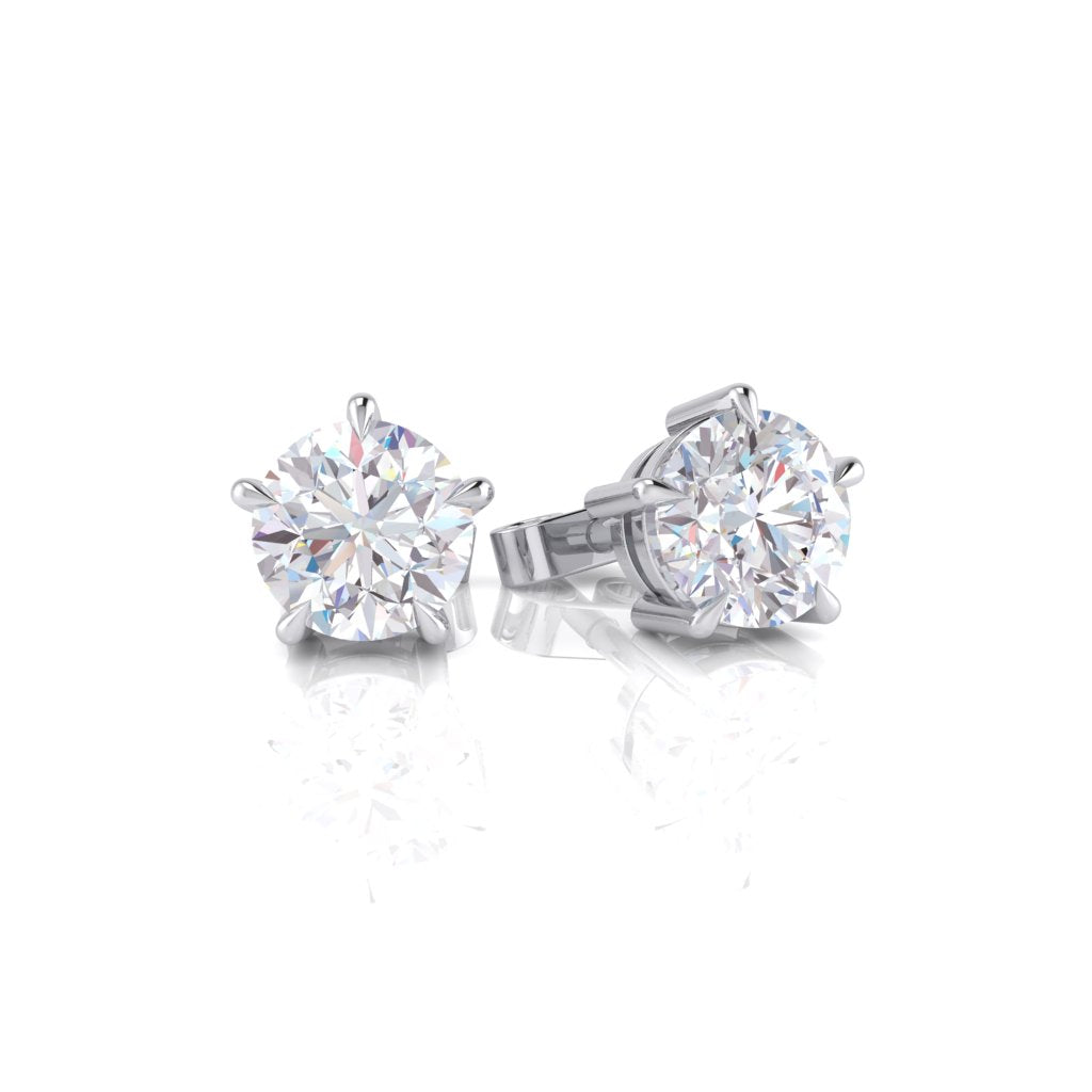 Diamond Stud Earrings 18ct White Gold