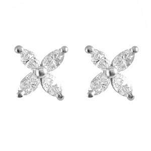 Marquise Diamond Studs | Shop Online | Earrings - Rosendorff